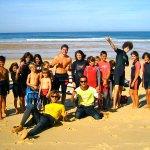 Stagiaires de l'école de surf ESCF