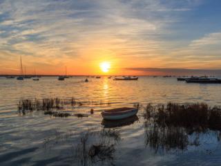Lever de soleil sur le Bassin d'Arcachon