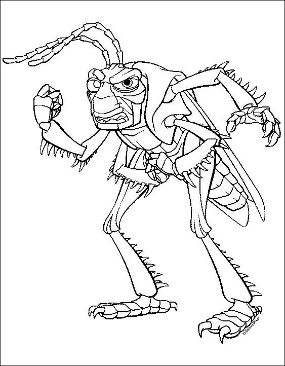 back to coloring pages a bugs life category
