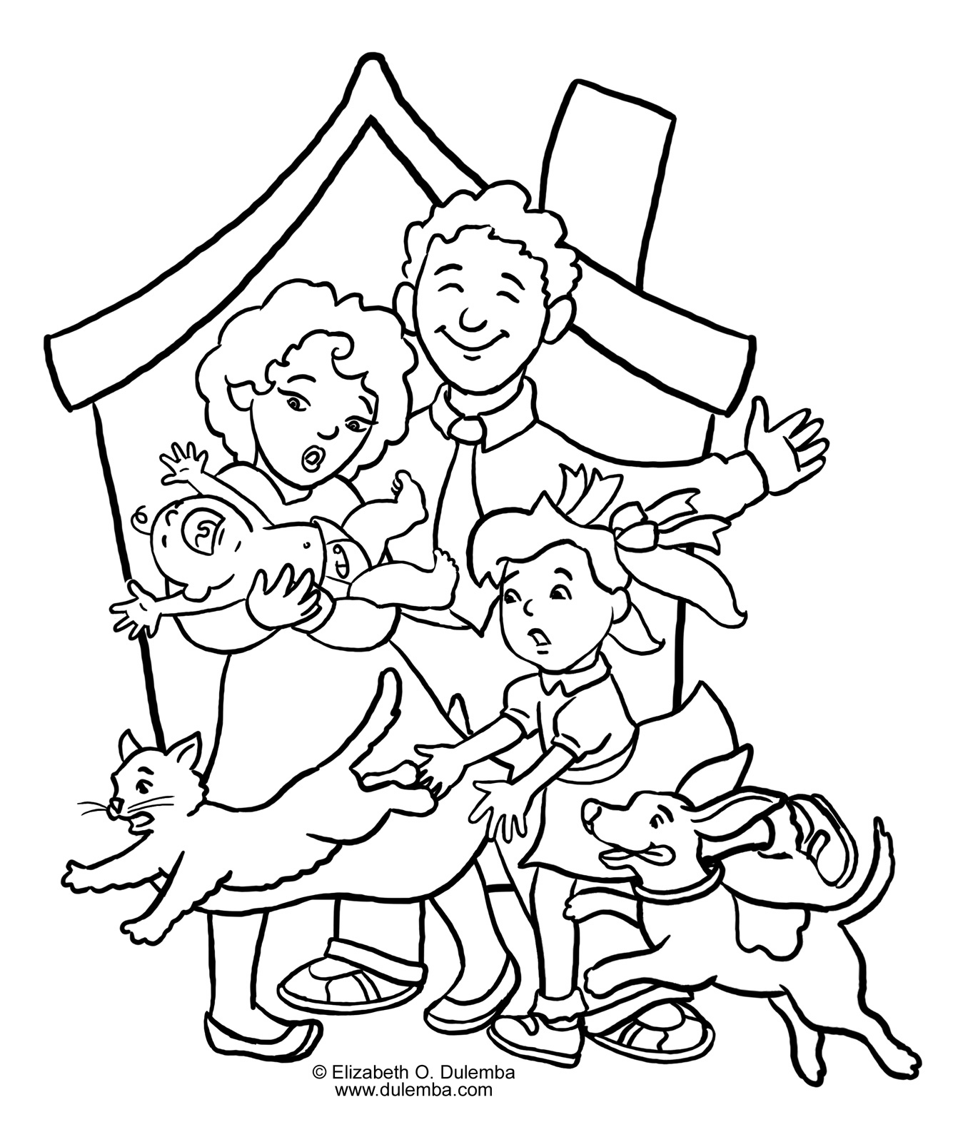 coloring pages family picture 51