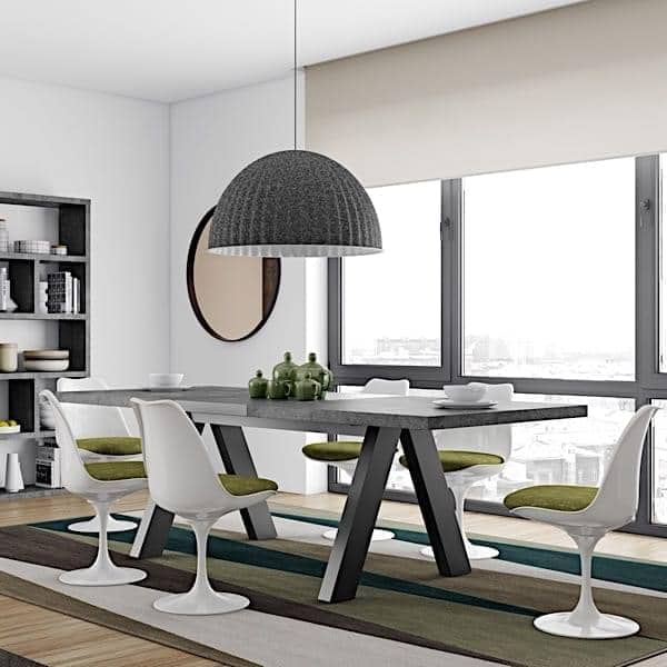 Apex Dining Table Concrete Aspect Temahome
