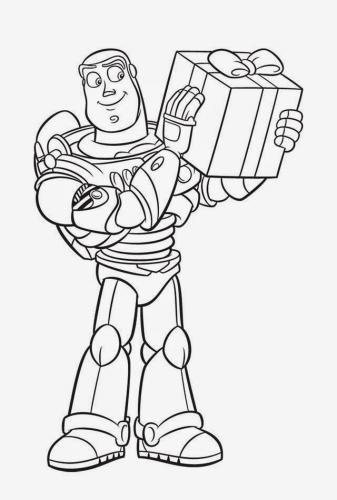 My Family Fun Buzz Lightyear Christmas Coloring Pages Your Favorite Characters Of Toy Story