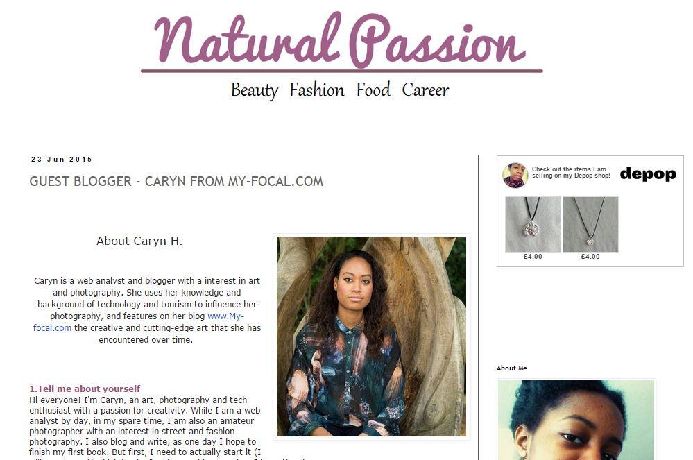 My guest blogging interview