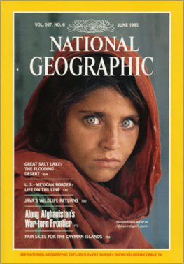 'Afghan girl' cover - National Geographic