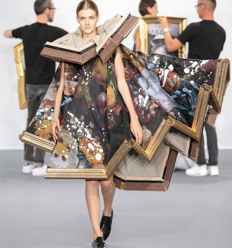 Victor and Rolf frame dress
