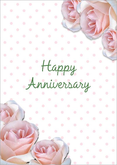 Pink Roses Anniversary Card 009