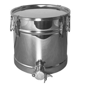 Rijper – Aftapvat met vergrendeling 25 kg – RVS