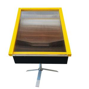 Zonnewassmelter groot met RVS standaard