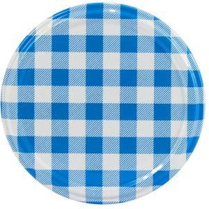 Deksel blauw geruit – toc 82 mm