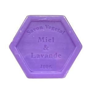 Plantaardige zeep met honing en lavendel – 100 gram
