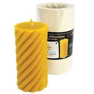 Lyson kaarsen gietvorm - Hoge spiraalcilinder - 13.5 cm hoog [FS141]