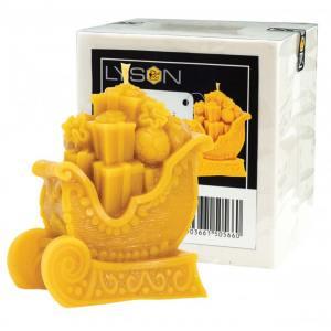 Lyson kaarsen gietvorm - Arrenslee met cadeautjes - hoogte 10.5 cm [FS508]