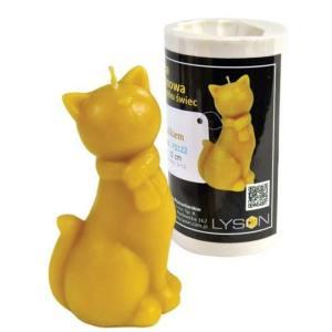 Lyson kaarsen gietvorm - kat met een sjaal - hoogte 10 cm [FS122]