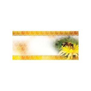 Universele mini etiketten 45x25 mm - gele bloem - per 100
