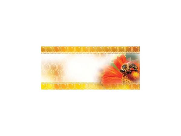 Universele mini etiketten 45x25 mm - rode bloem - per 100
