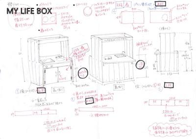 ままごとキッチン設計図