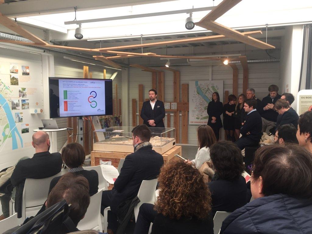 Présentation de MY OLYMPE aux Pitchs de l'Innovation Bordeaux Euratlantique de 2019