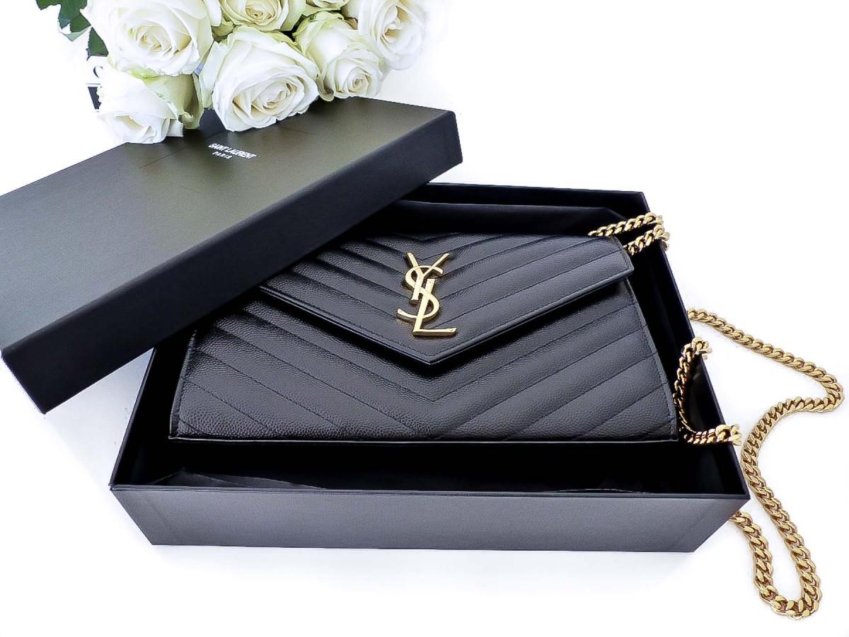 Saint Laurent YSL Matelassé Chain Wallet Bag Unboxing