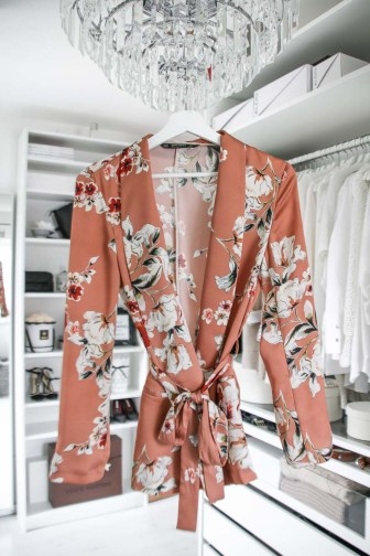 Zara, Blazer, Kimono, Floral, Shopping