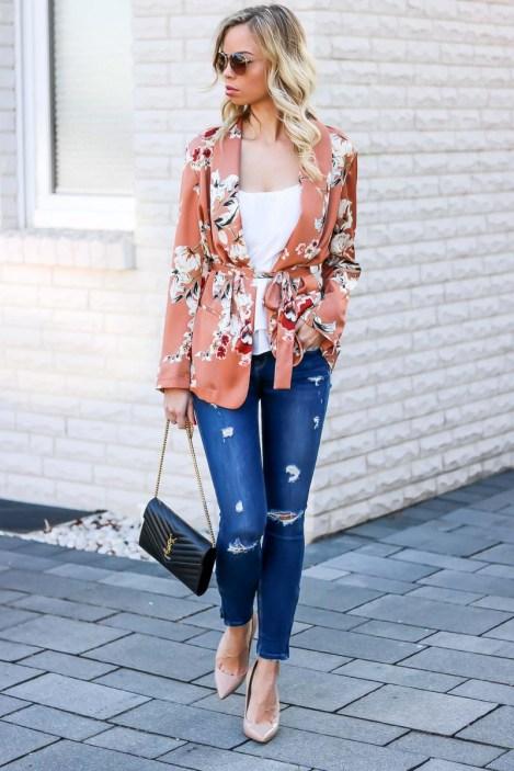Spring into Summer - Floral Kimono Blazer-2