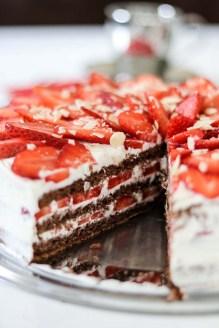 Erdbeeren, Erdbeertorte, Erdbeerkuchen, Torte, Kuchen, Rezept