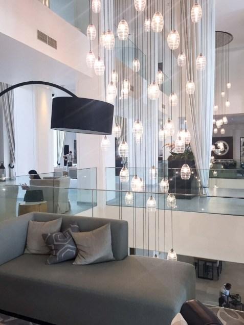 Vida Downtown Dubai lights lobby