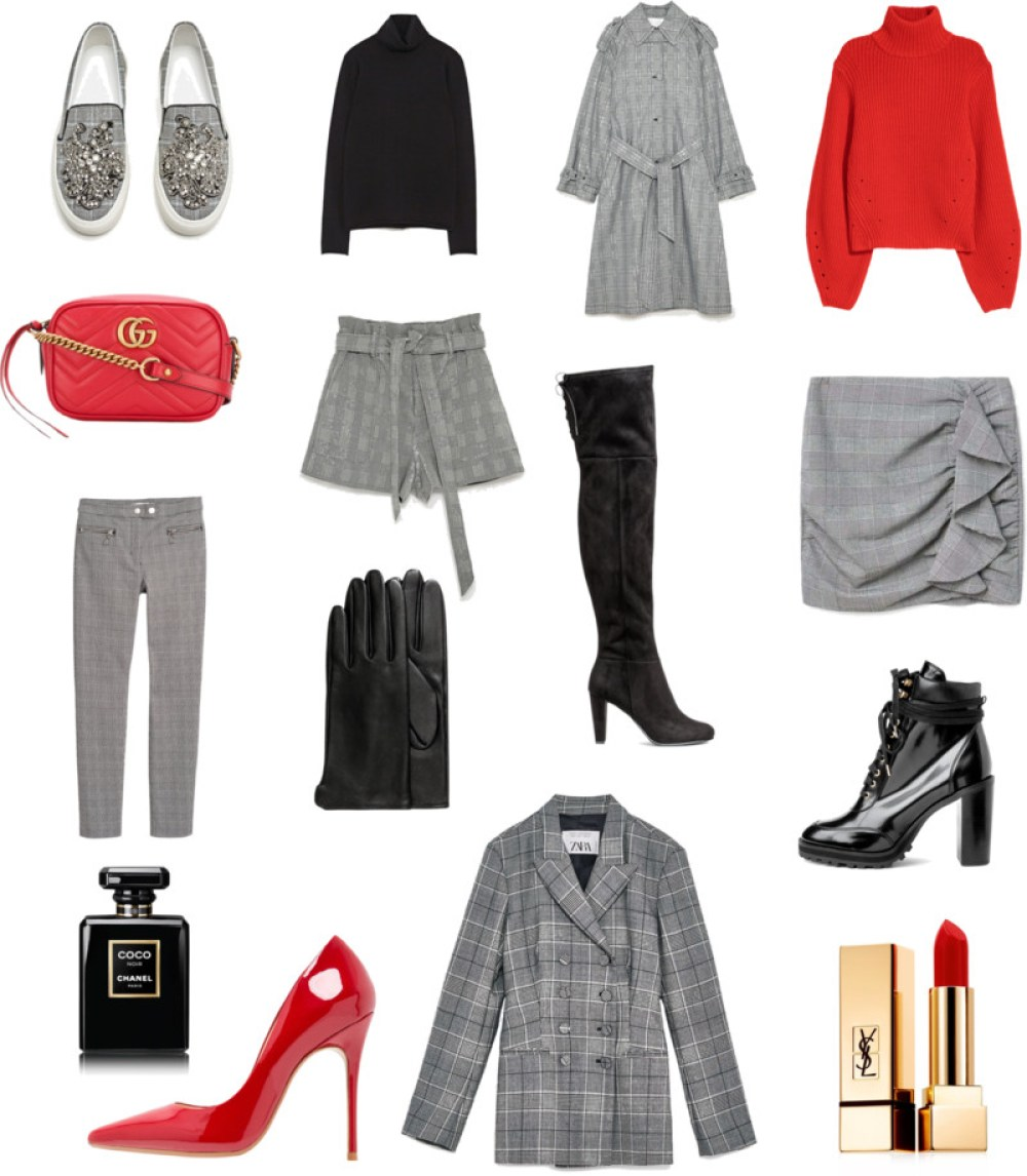 Glencheck Trend Fashion Collage