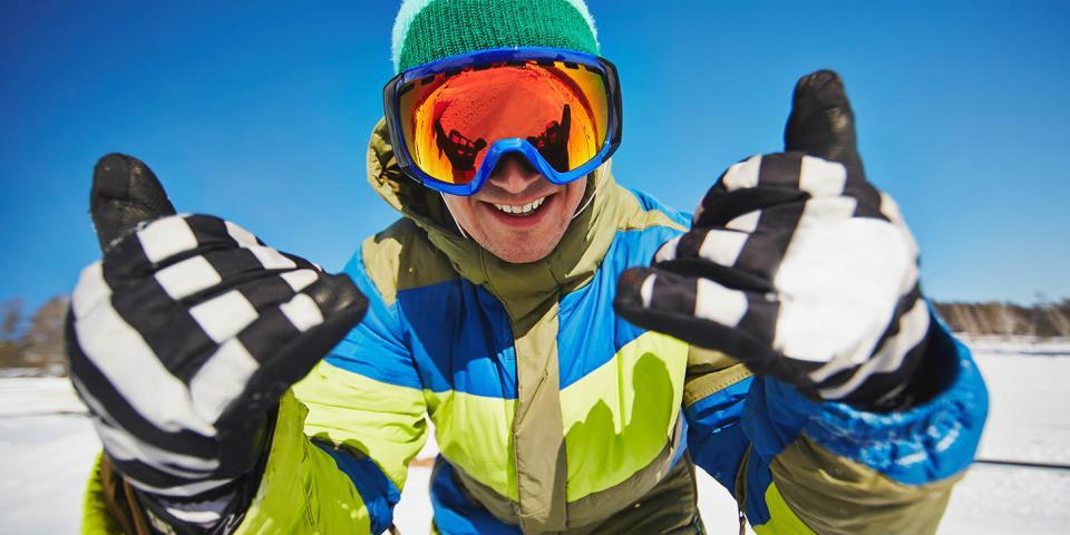 skiing near Lake Como