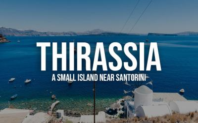 Thirassia, a small island near Santorini