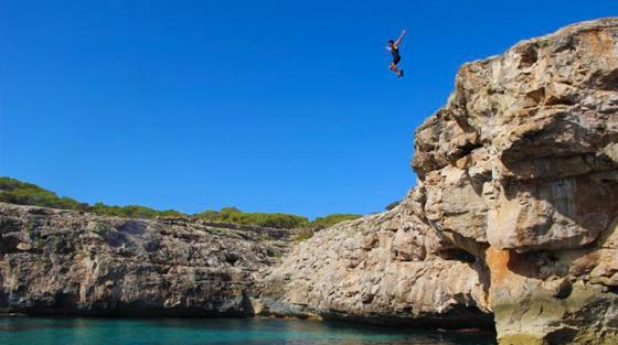 cliff diving ibiza