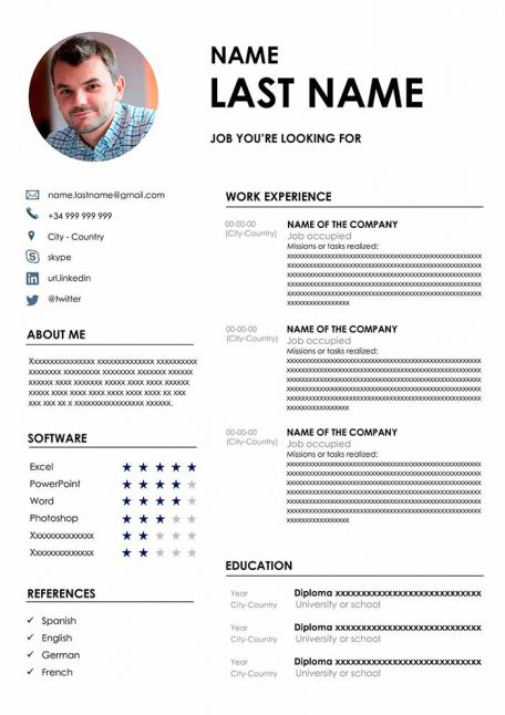 50 Resume Templates In Word Free Download Cv Format