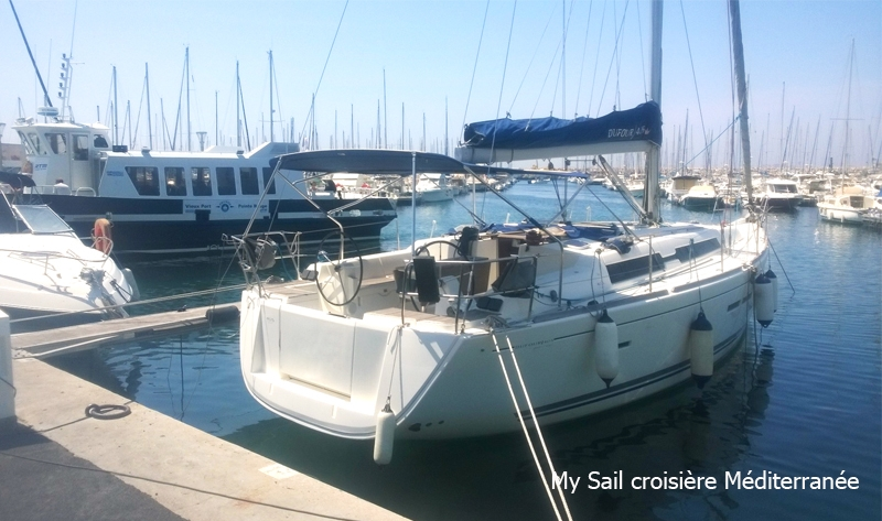 location bateau monocoque voilier dufour 405 grand large a marseille port pointe rouge archipel riou