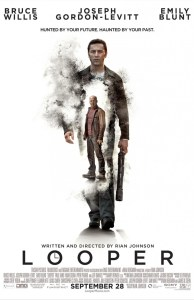 "Poster for the 2012 film ""Looper""."