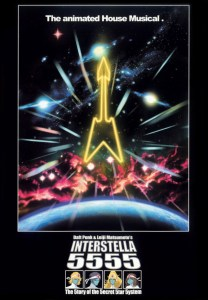 "Cover of ""Interstella 5555: The 5tory of the 5ecret 5tar 5ystem"", directed by Leiji Matsumoto."