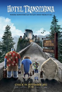 """Theatrical teaser poster for """"Hotel Transylvania""""."""
