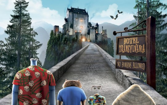 "Theatrical teaser poster for ""Hotel Transylvania""."