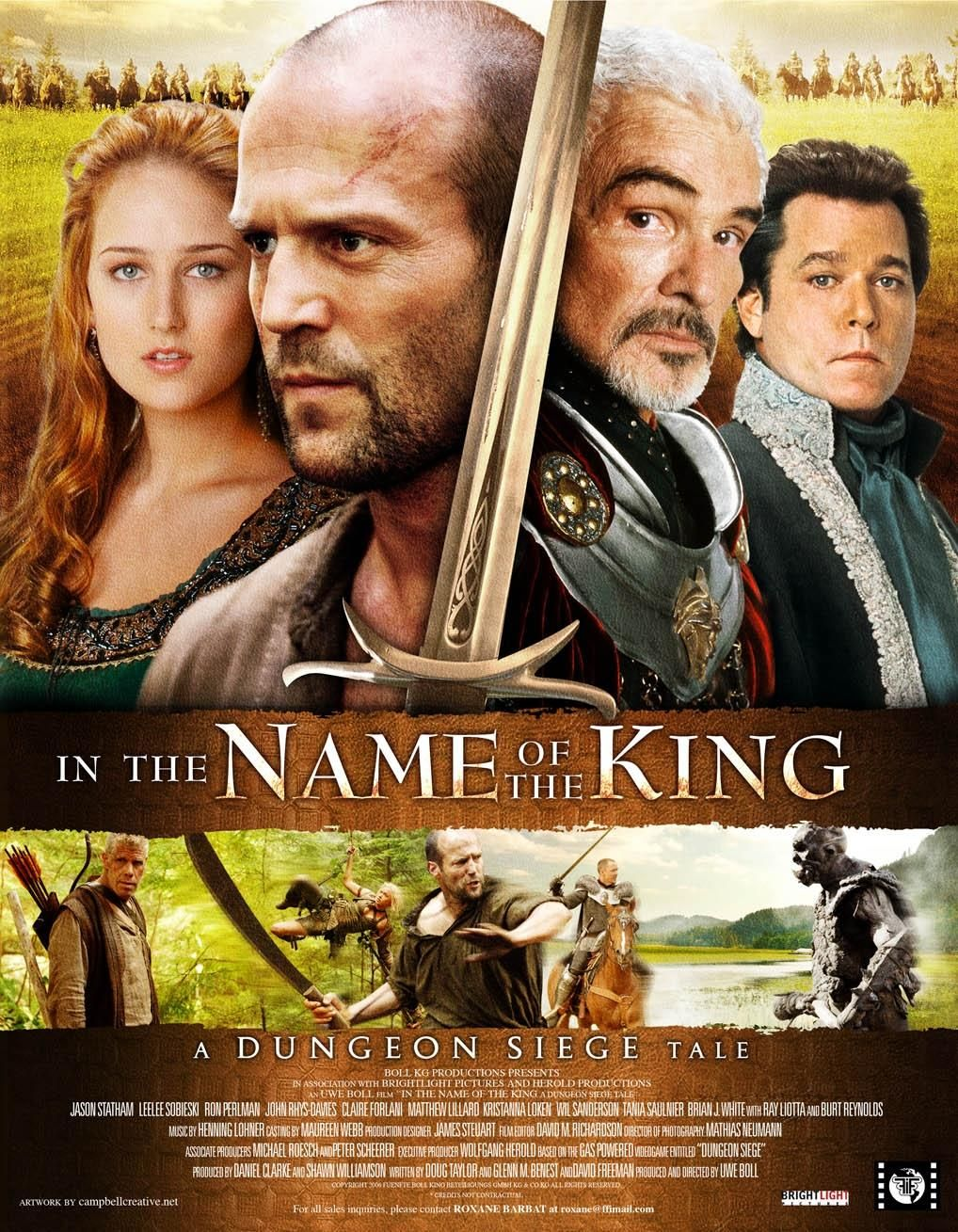 """""""In the Name of the King - A Dungeon Siege Tale"""" poster."""