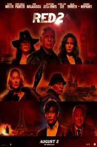 """Poster for """"Red 2"""", starring Bruce Willis and Mary-Louise Parker."""