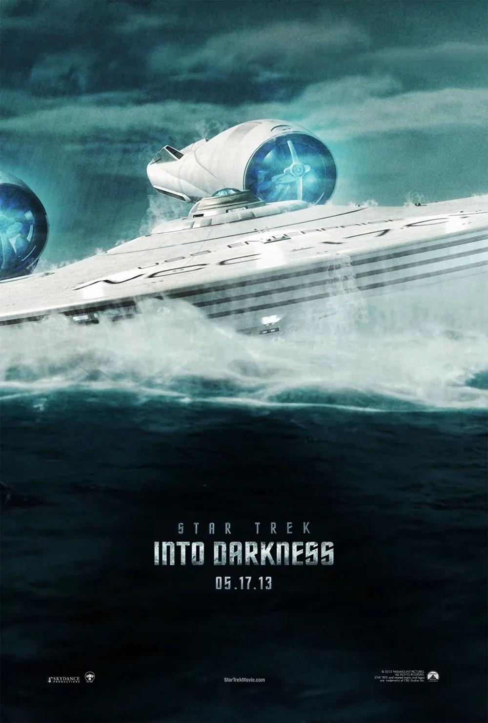 "Movie poster for ""Star Trek Into Darkness""."