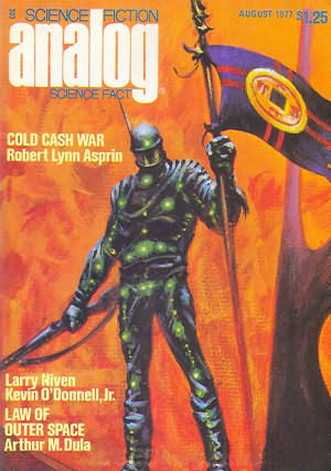 "Cover of August 1977 ""Analog"", the issue which contains ""Ender's Game""."