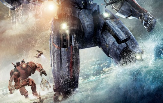 "Poster featuring Gipsy Danger from ""Pacific Rim""."