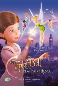 "Poster for the U.K. release of ""Tinker Bell and the Great Fairy Rescue""."