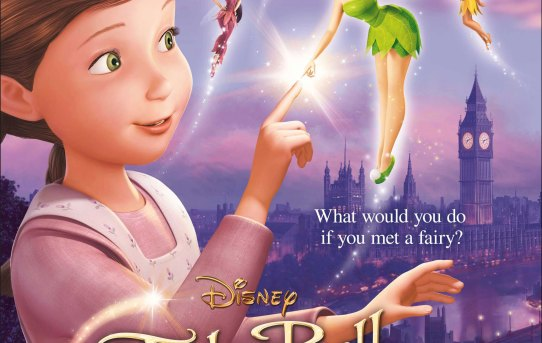 """Poster for the U.K. release of """"Tinker Bell and the Great Fairy Rescue""""."""