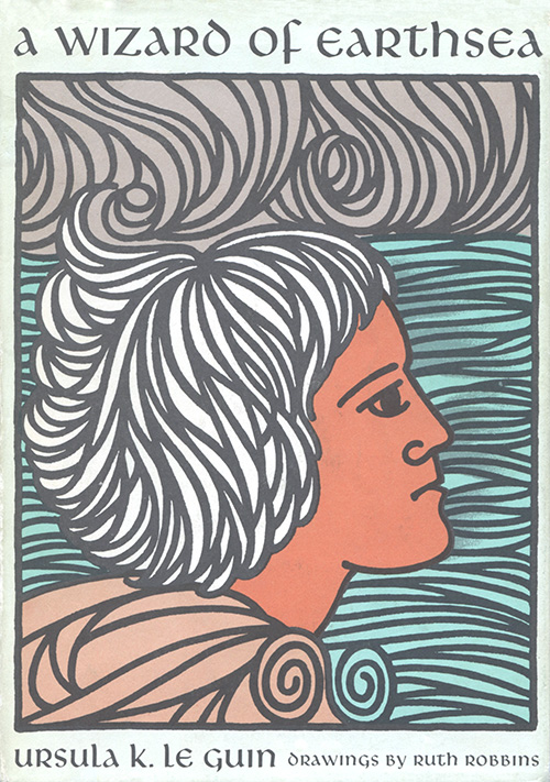 """Cover of the 1968 Parnassus Press edition of """"A Wizard of Earthsea"""" by Ursula K. Le Guin."""