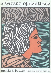"Cover of the 1968 Parnassus Press edition of ""A Wizard of Earthsea"" by Ursula K. Le Guin."