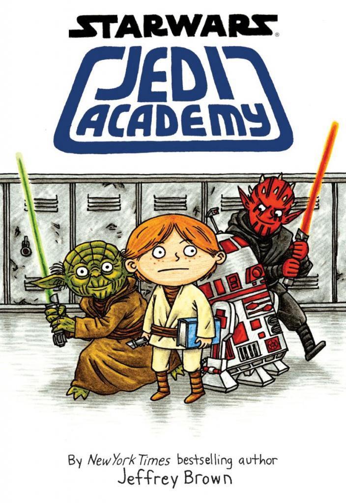 "Cover of ""Star Wars: Jedi Academy"" by Jeffrey Brown."