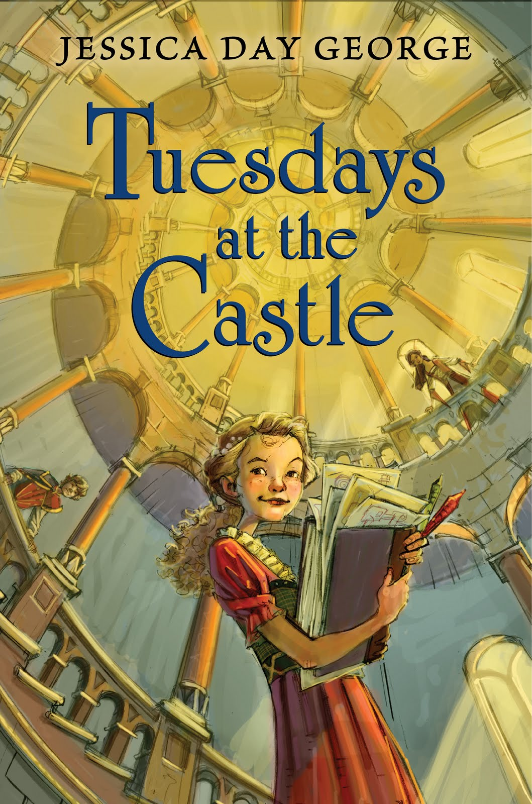 """Cover of """"Tuesdays at the Castle"""" by Jessica Day George."""