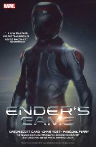 "Cover of the ""Ender's Game"" graphic novel adaptation."
