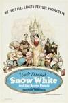 "Original 1937 theatrical poster from ""Snow White and the Seven Dwarfs"" from Walt Disney."