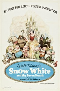 """Original 1937 theatrical poster from """"Snow White and the Seven Dwarfs"""" from Walt Disney."""